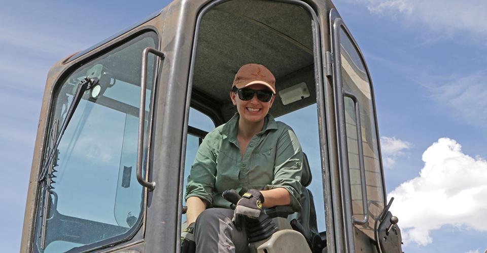 Kara Holzmiller Digging the Foundation