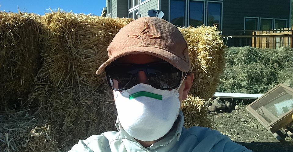Clay Straw Wall - Straw Prep