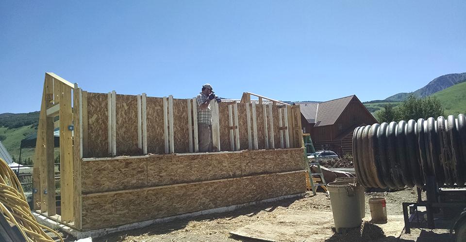 Clay Straw Wall - Stomping