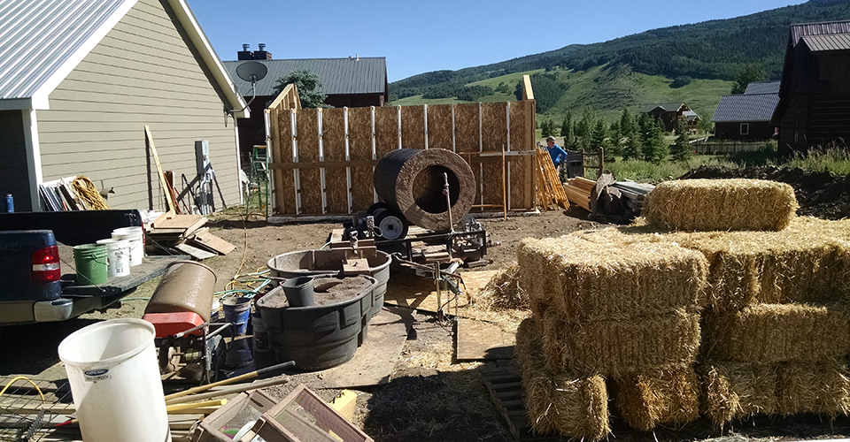 Clay Straw Wall - Straw Prep