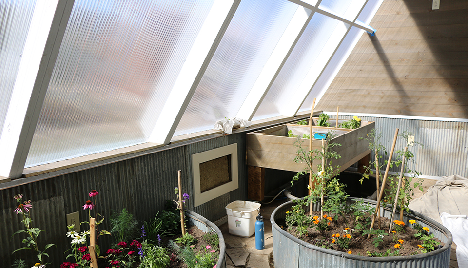 Passive Solar Design - Inside the Greenhouse